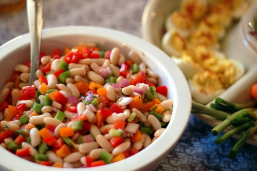 Tomato Bean Salad - Colorful Tomato Starters